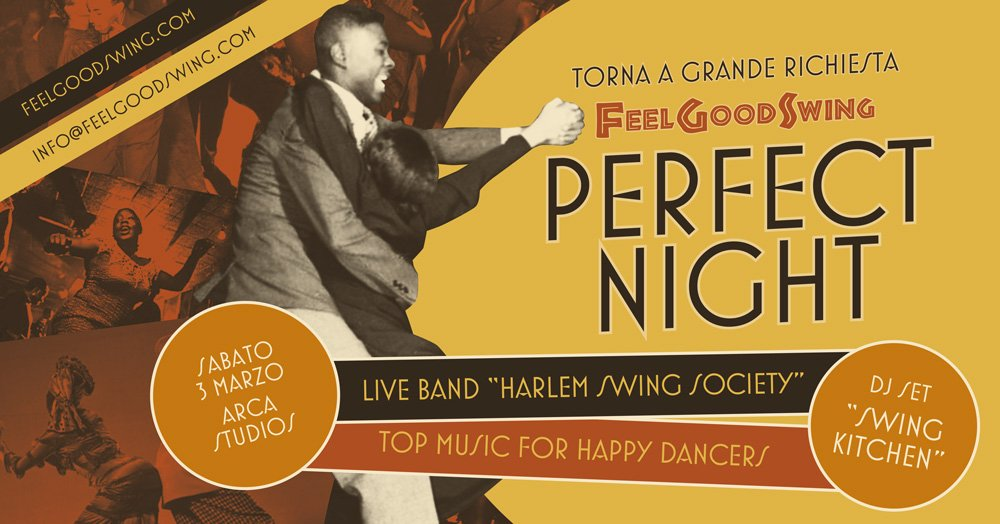 SAB 3/3 – PERFECT NIGHT – con Harlem Swing Society
